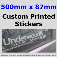 87mm x 500mm Custom Printed Advertising,Fun Stickers-Windows,Bumper-Car,Taxi,Van,Business,Website